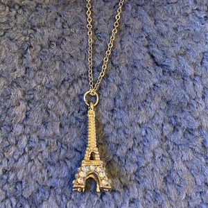 NWT Girl's Silver Eiffel Tower Necklace